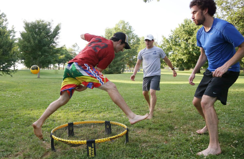 Games at Camp Champions on Lake LBJ.