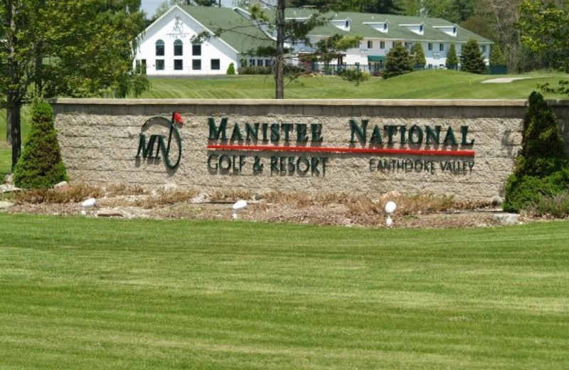 Entrance to Manistee National Golf & Resort.