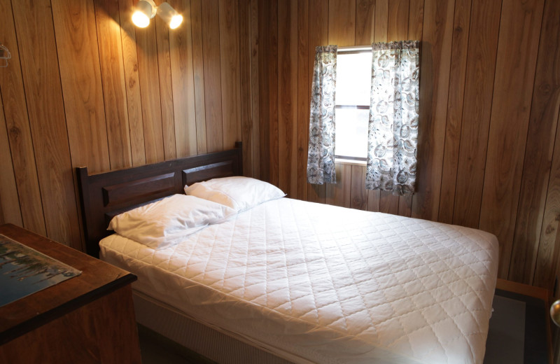 Cottage bedroom at Southview Cottages Resort.