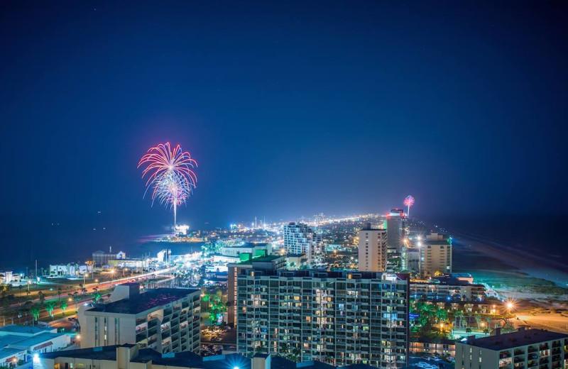 Fireworks at Padre Getaways.