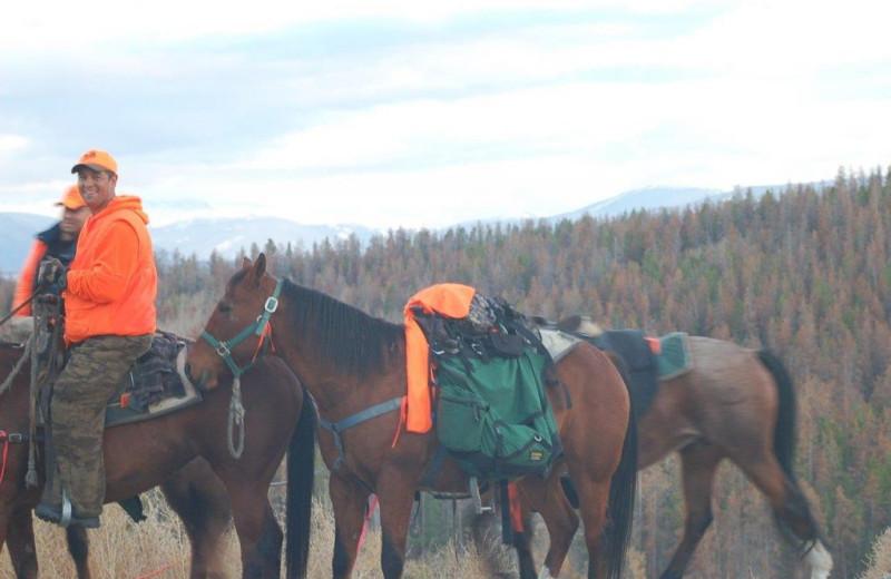 Hunting at Williams Fork Lodging.