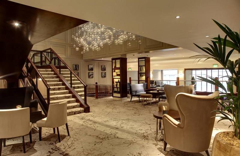 Lobby at Hilton Glasgow Grosvenor Hotel.
