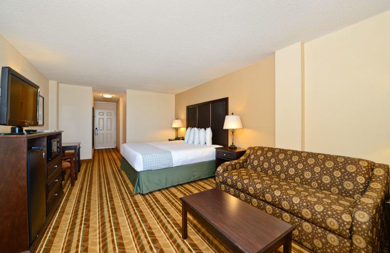 Guest room at Daytona Beach Shores Hotel.