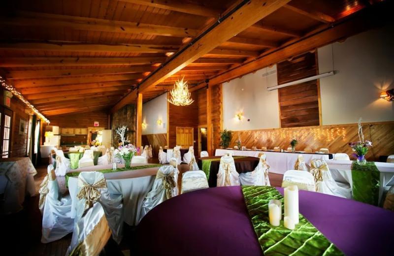 Wedding reception at Cliffview Resort.