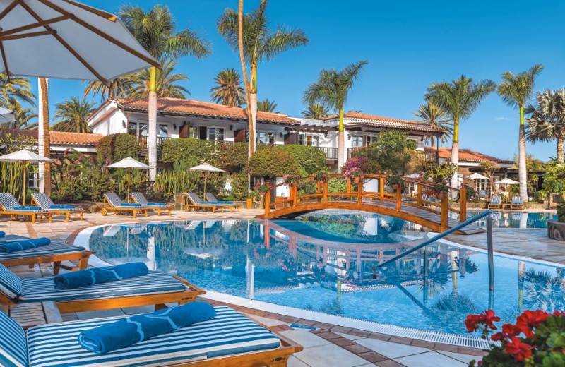 Outdoor pool at Grand Hotel Residencia.