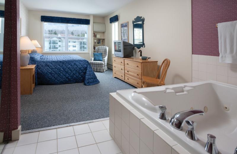 Rental bedroom at Smugglers' Notch Resort.