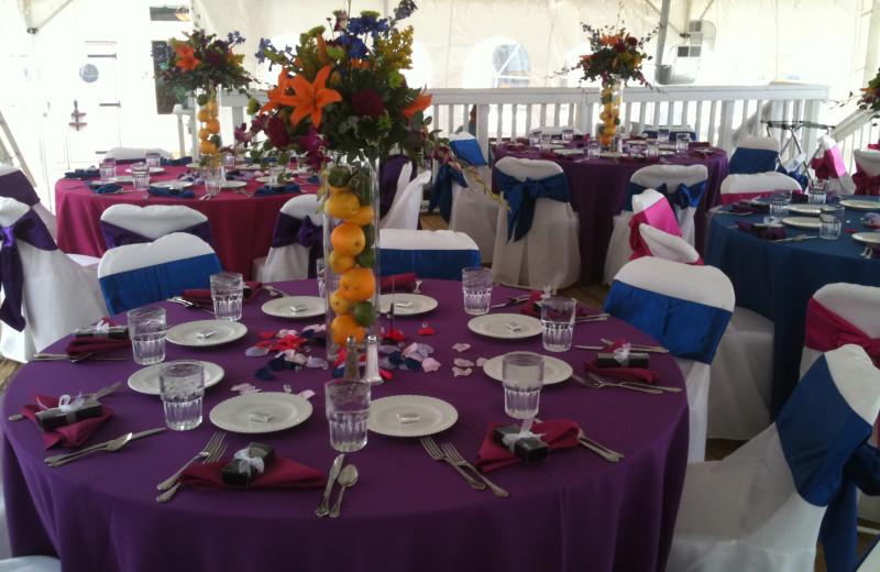Wedding reception at ParkShore Resort.