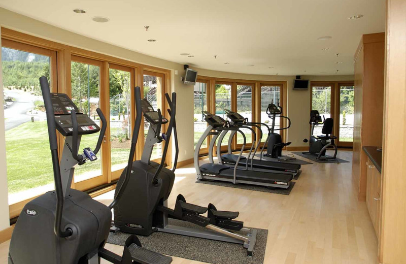 Fitness room at Sonora Resort and Conference Centre, Canada.
