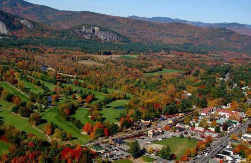 Aerial view of North Conway Lodging.