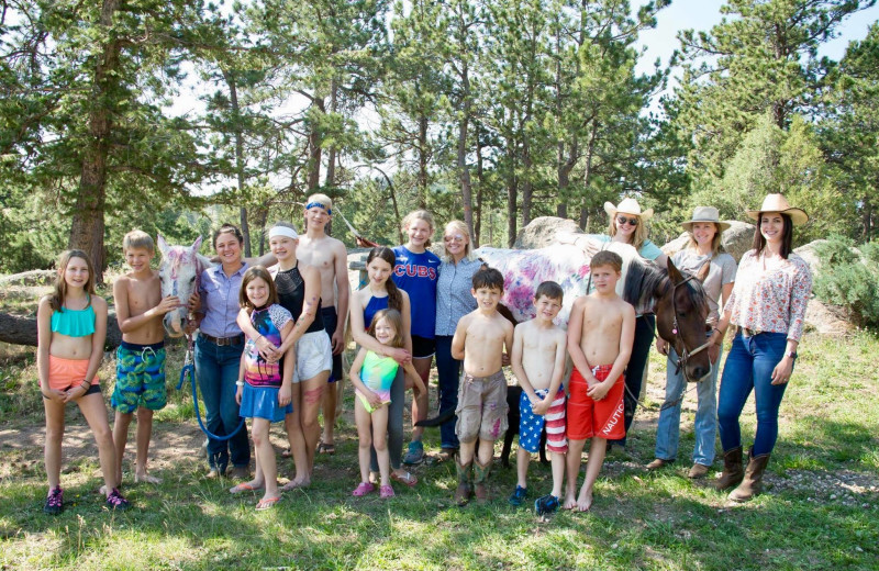 Family at Sundance Trail Guest Ranch.