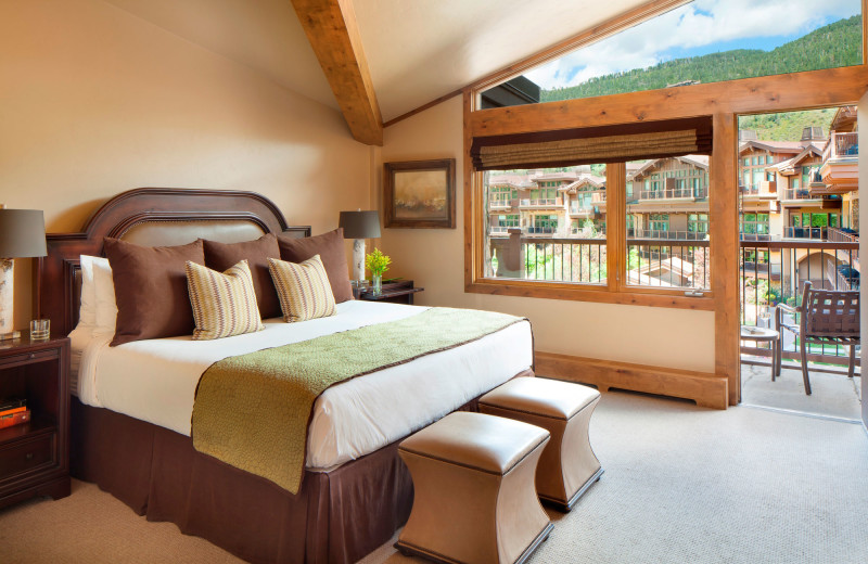 Guest room at Manor Vail Lodge.