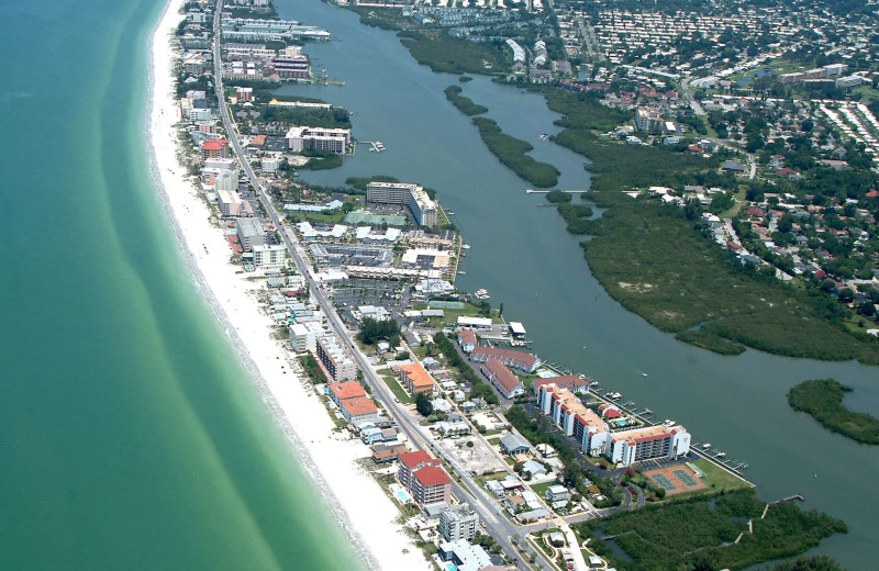 Aerial view of area at Plumlee Gulf Beach Realty.