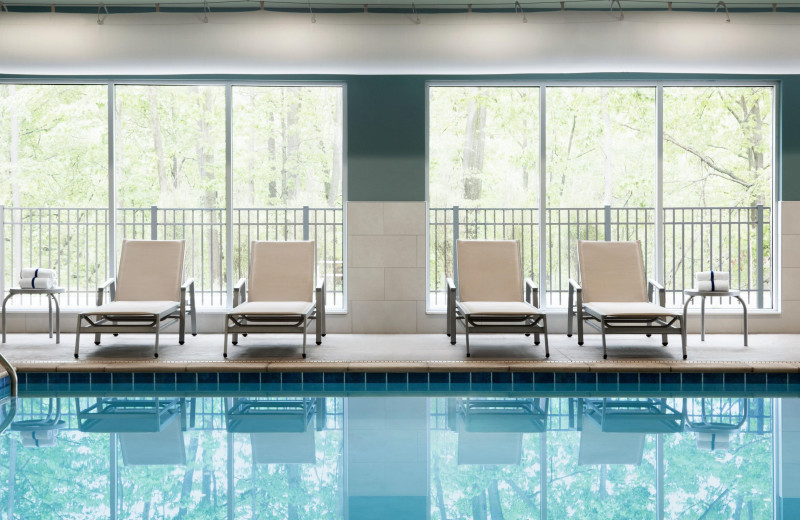 Indoor pool at Holiday Inn Express & Suites Madison.