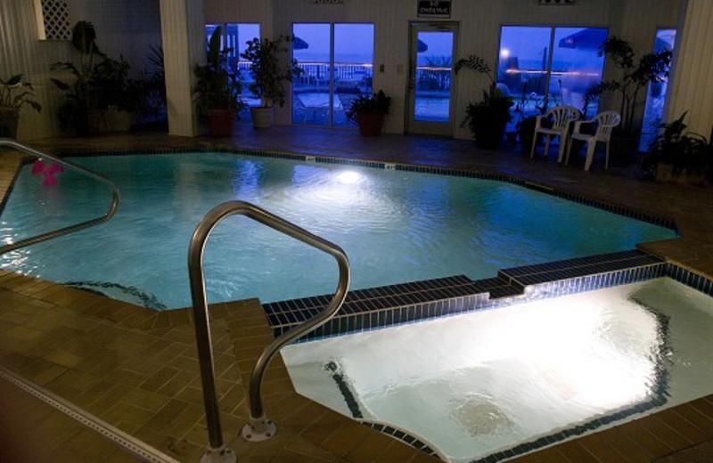 Hot tub view at Ocean Isle Inn.