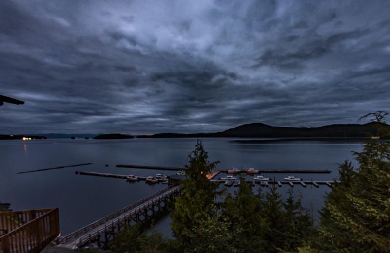 Majestic views of Salmon Falls Resort Marina