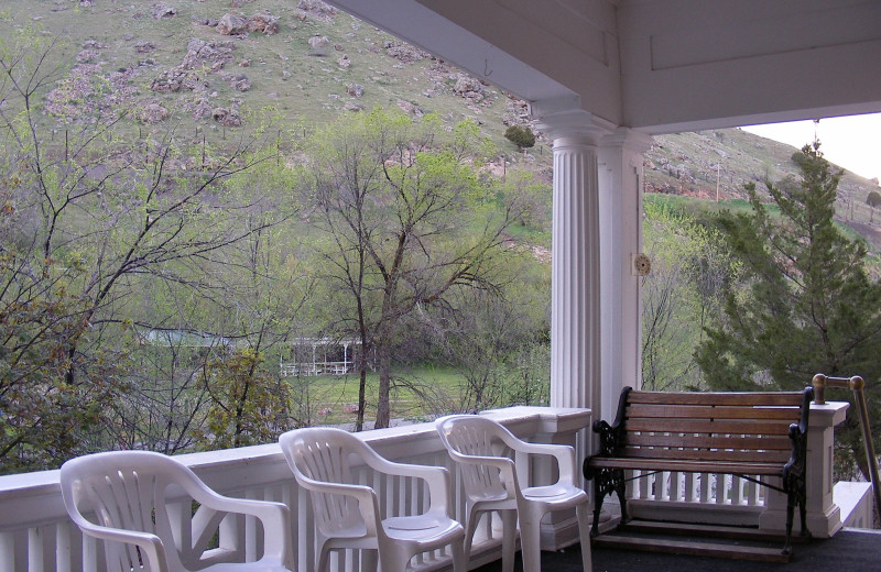 Porch at Riverside Hot Springs.