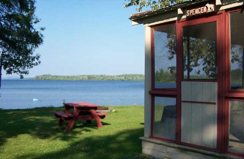 Cabin exterior at Wilsons on Moosehead Lake.