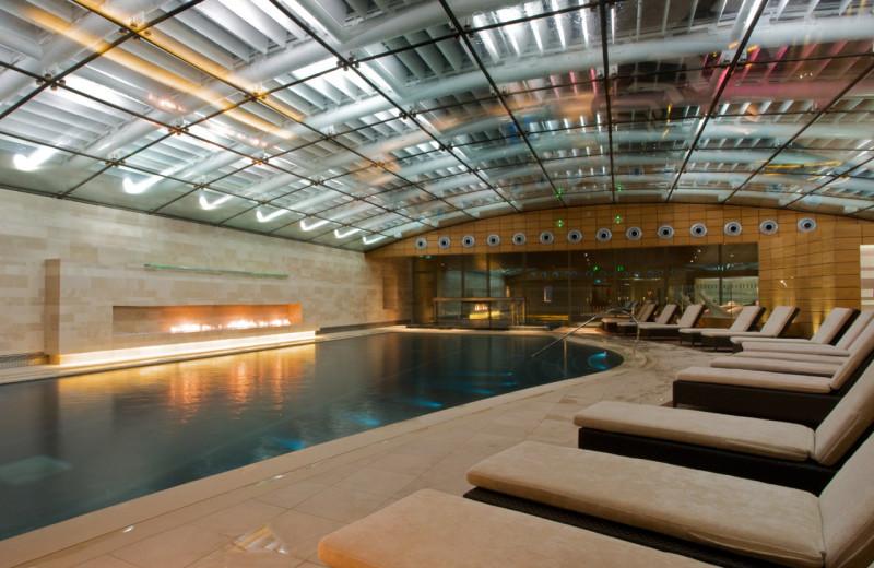 Indoor pool at Lucknam Park.