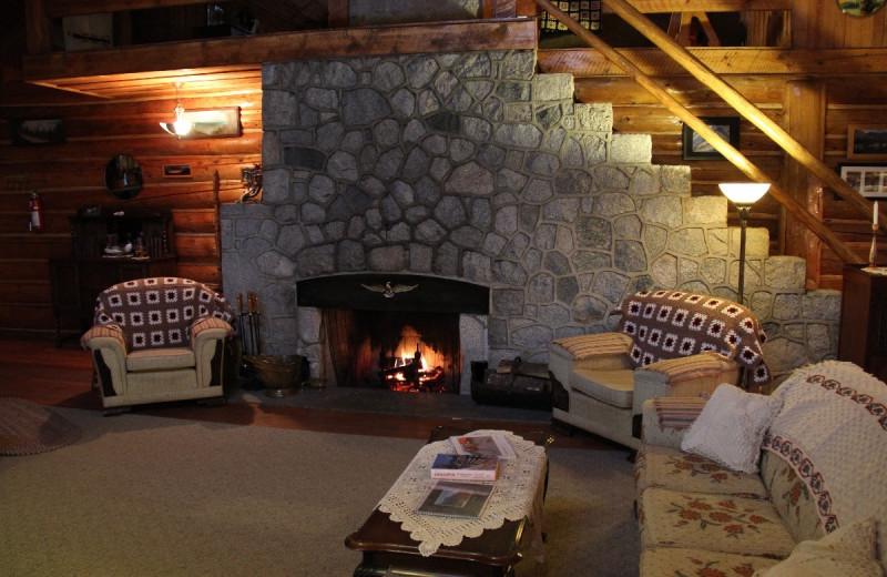 Interior of Tsuniah Lake Lodge.