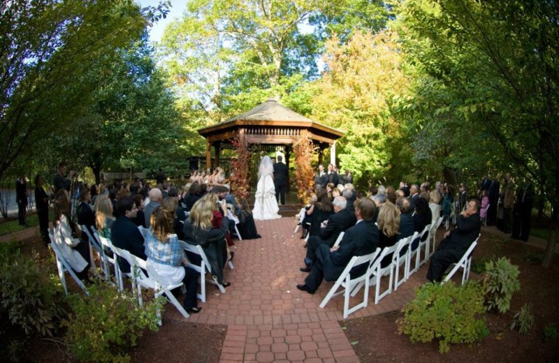 Outdoor ceremony at Stonehedge Inn and Spa.