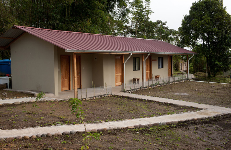 Exterior view of Wildsumaco Lodge.