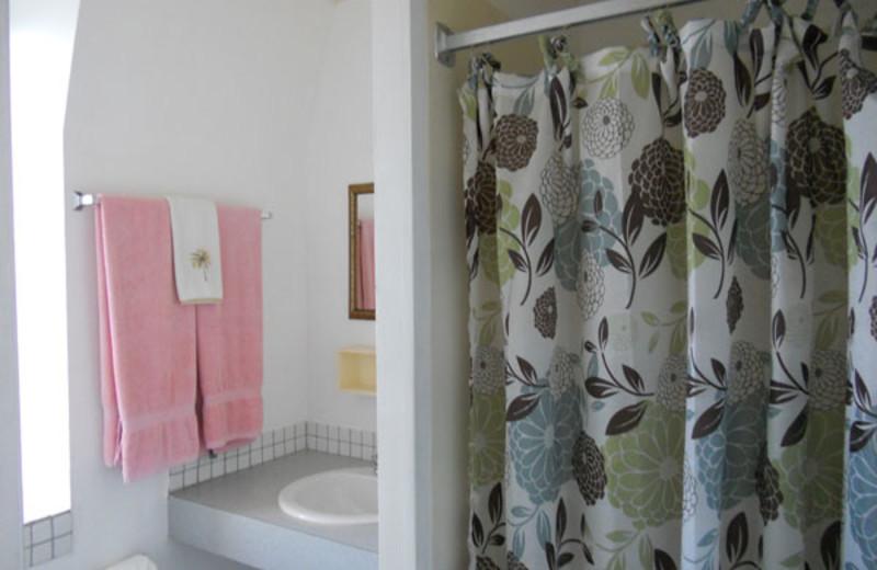 Rental bathroom at Paradise Cove Resort.