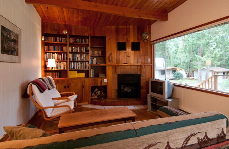 Cottage living room at Blue Vista Resort.