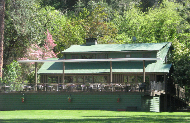 Lodge exterior at Morrison's Rogue River Lodge.
