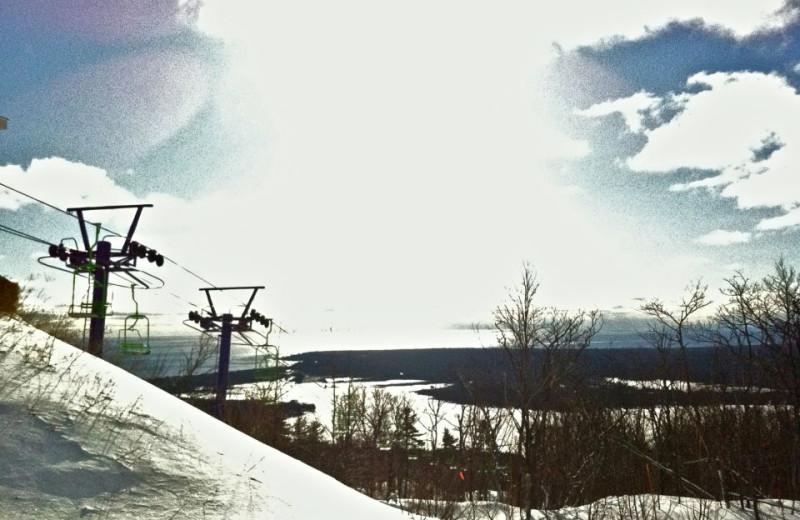 Skiing at Aqua Log Cabin Resort.