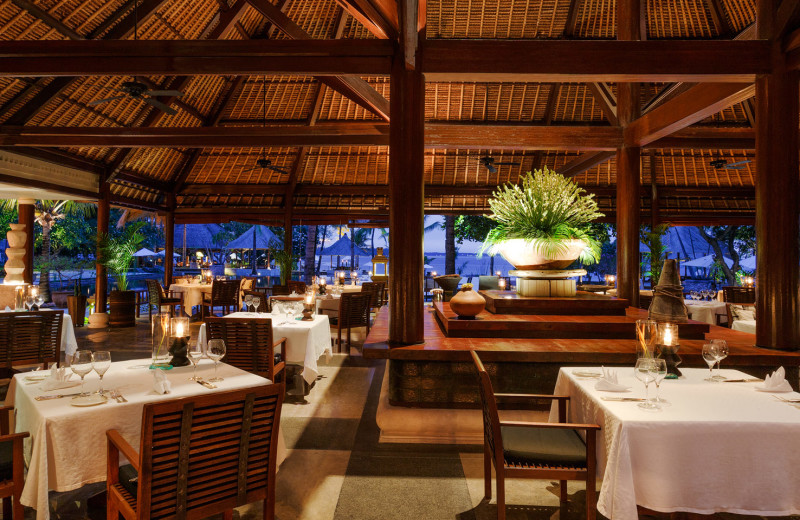 Dining at The Oberoi Lombok.