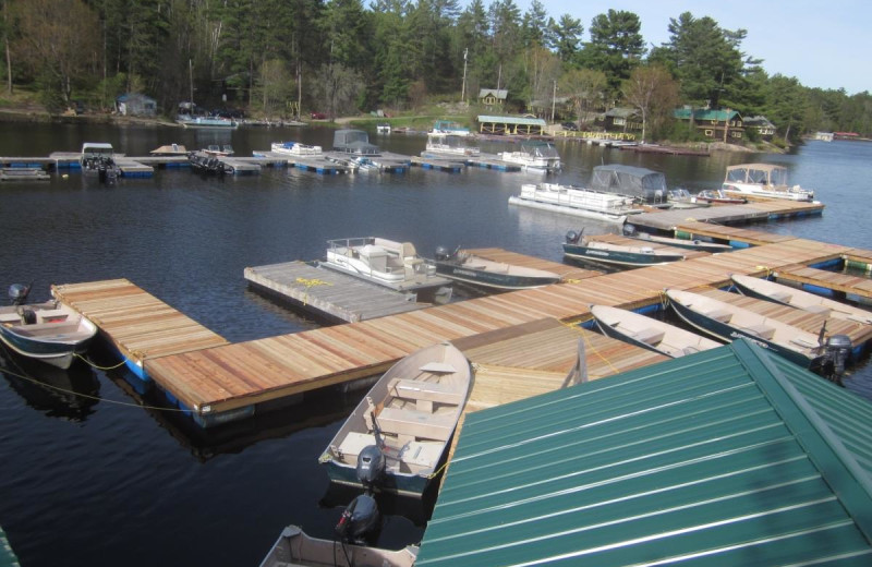 Dock at Fishing at Wolseley Lodge.