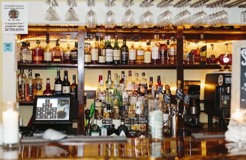Bar at The Red Clover Inn & Restaurant.