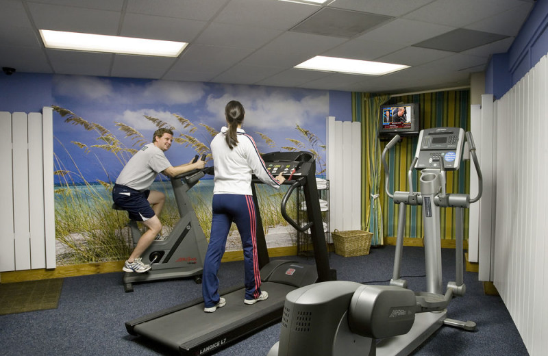Fitness room at Carolina Winds.