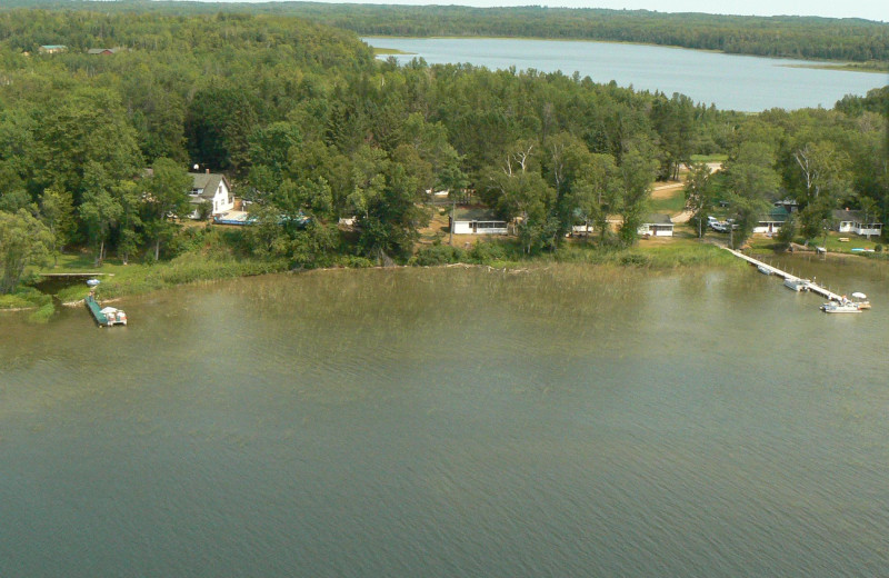 Aerial view of Cedarwild Resort.