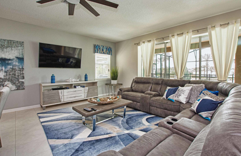 Rental living room at Vacation Pool Homes.