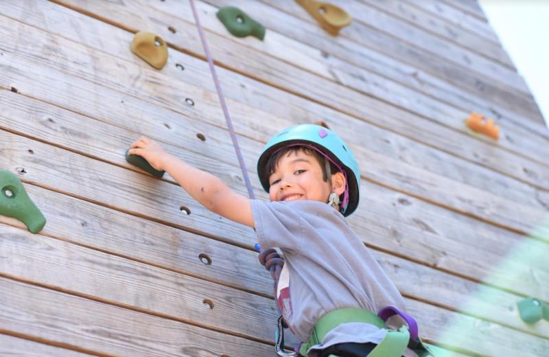 Climbing wall at Camp Balcones Spring.