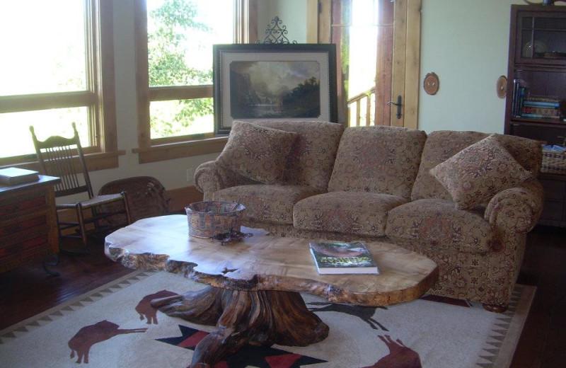 Interior view of Lone Elk Lodge.