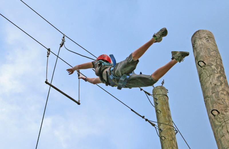 Adventure ropes at Mo-Ranch.