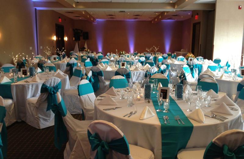 Wedding reception at Bay Harbor Resort and Marina.