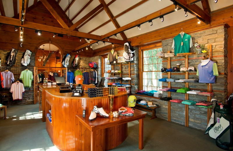 Golf shop at The Otesaga Resort Hotel.