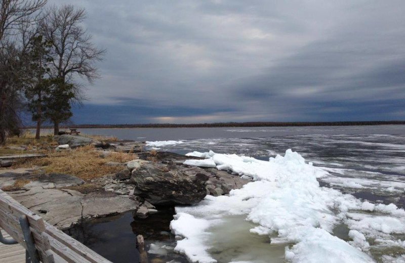 Lake view at Sandy Point Lodge.