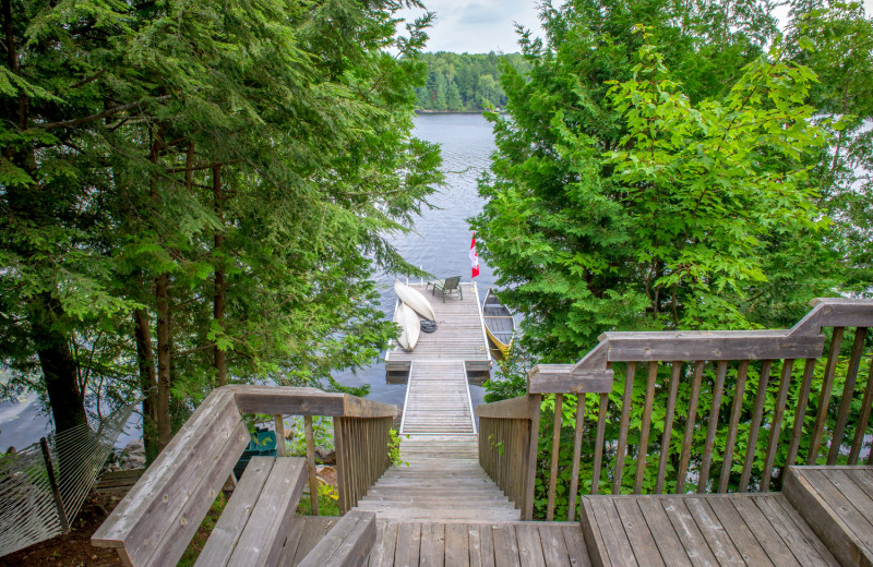 Rental dock at Cottage Vacations.