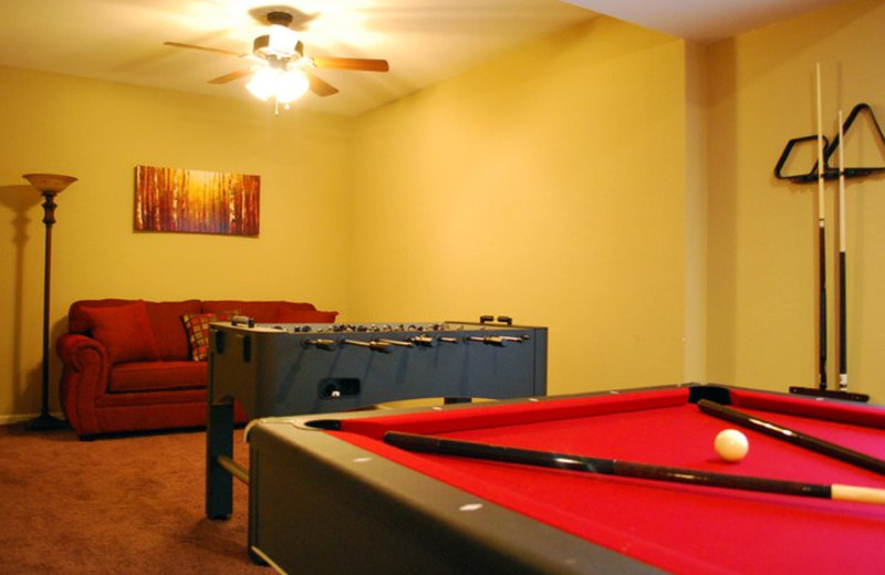 Rental game room at Vacation Home in Branson.