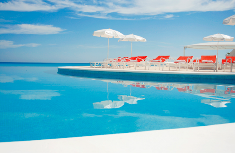 Outdoor pool at Bel Air Collection Hotel & Spa Cancun.
