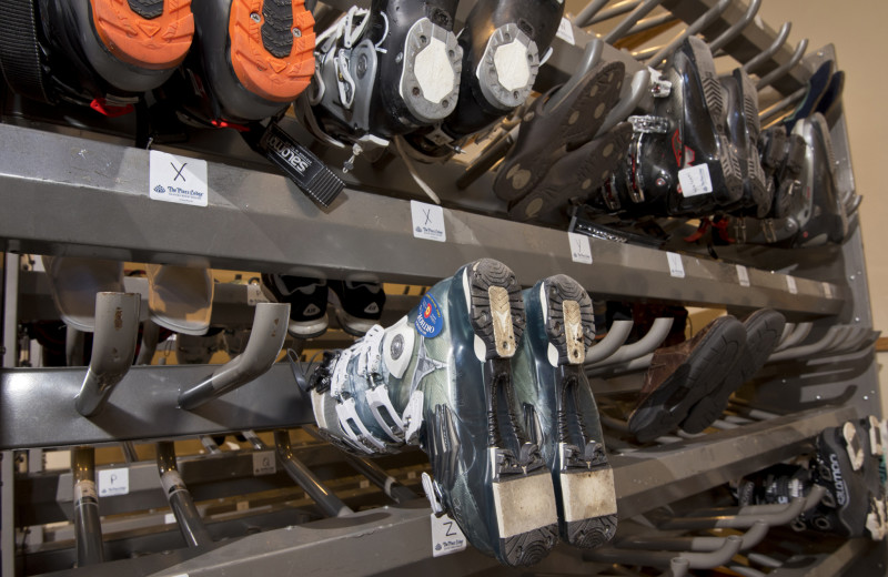 Ski boots at The Pines Lodge, A RockResort.