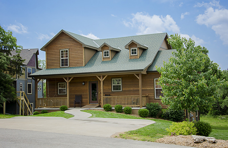 Rental exterior at Branson Vacation Houses.