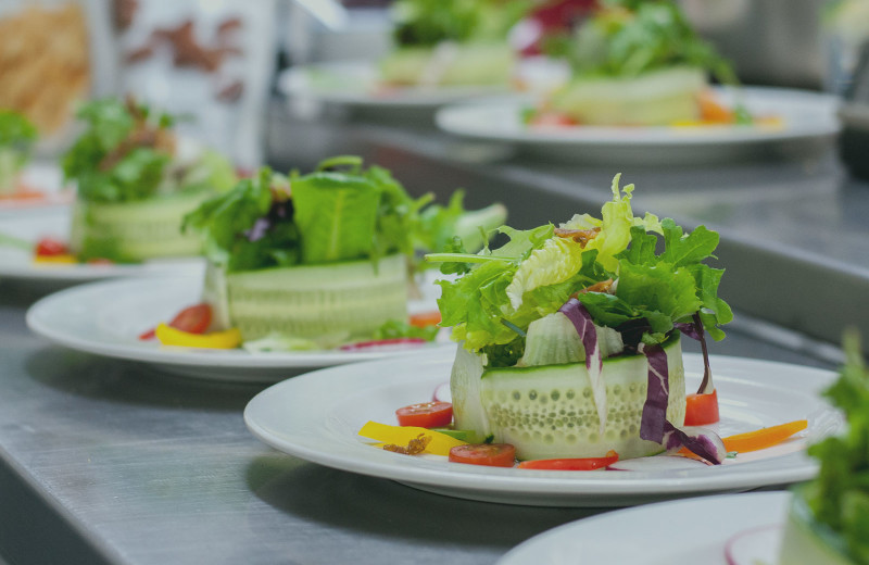 Salads at Christie's Mill Inn & Spa.