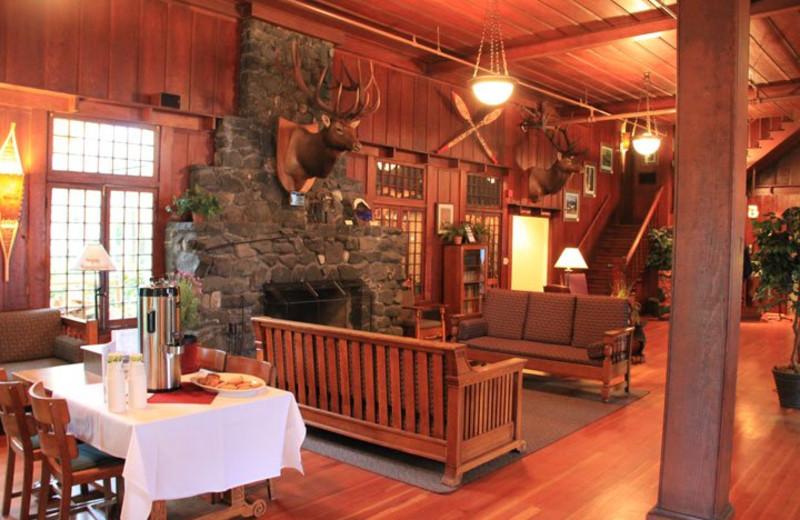 Lobby view at Lake Crecent Lodge.