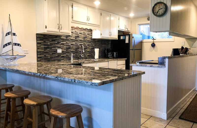 Rental kitchen at Sunnyside Resort Rental Company.