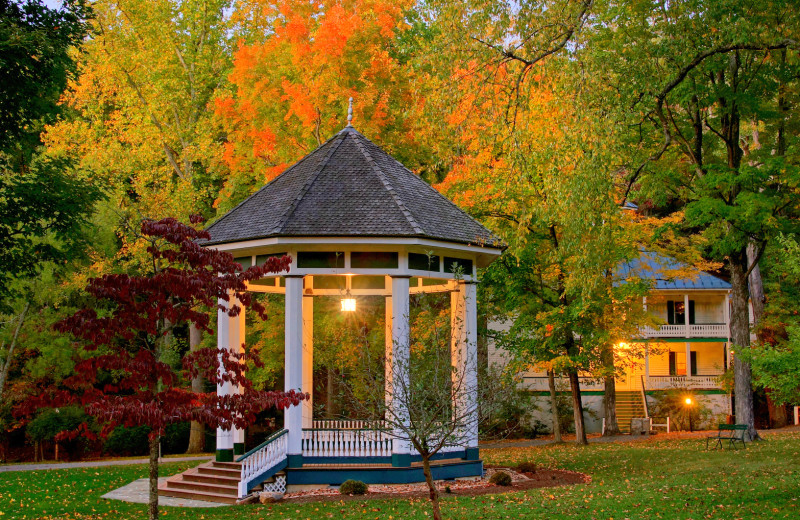 Fall gazebo at Capon Springs & Farms.